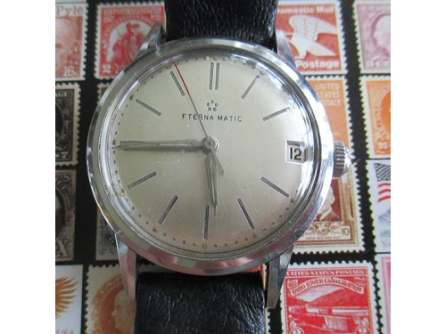 Eternamatic all steel case with date