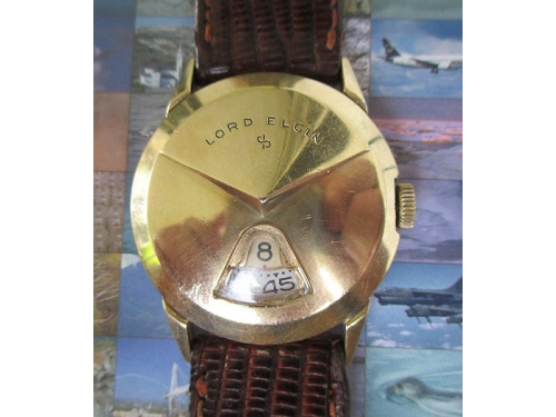 Lord Elgin Direct Read Chevron bezel SERVICED!