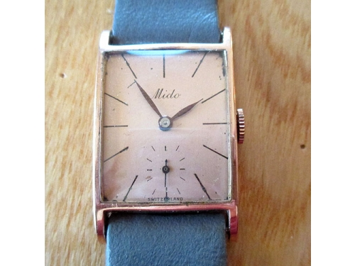 Mido solid 14kt pink gold dress watch